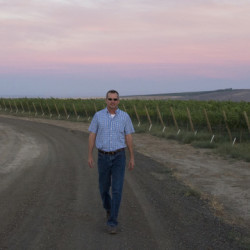John Derrick, Vineyard Manager Mercer Wine Estates, Cavalie vineyard, Horse Heaven Hills, Washington